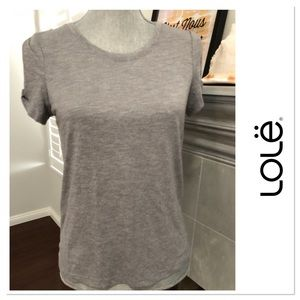 Lole super soft cold shoulder short sleeve